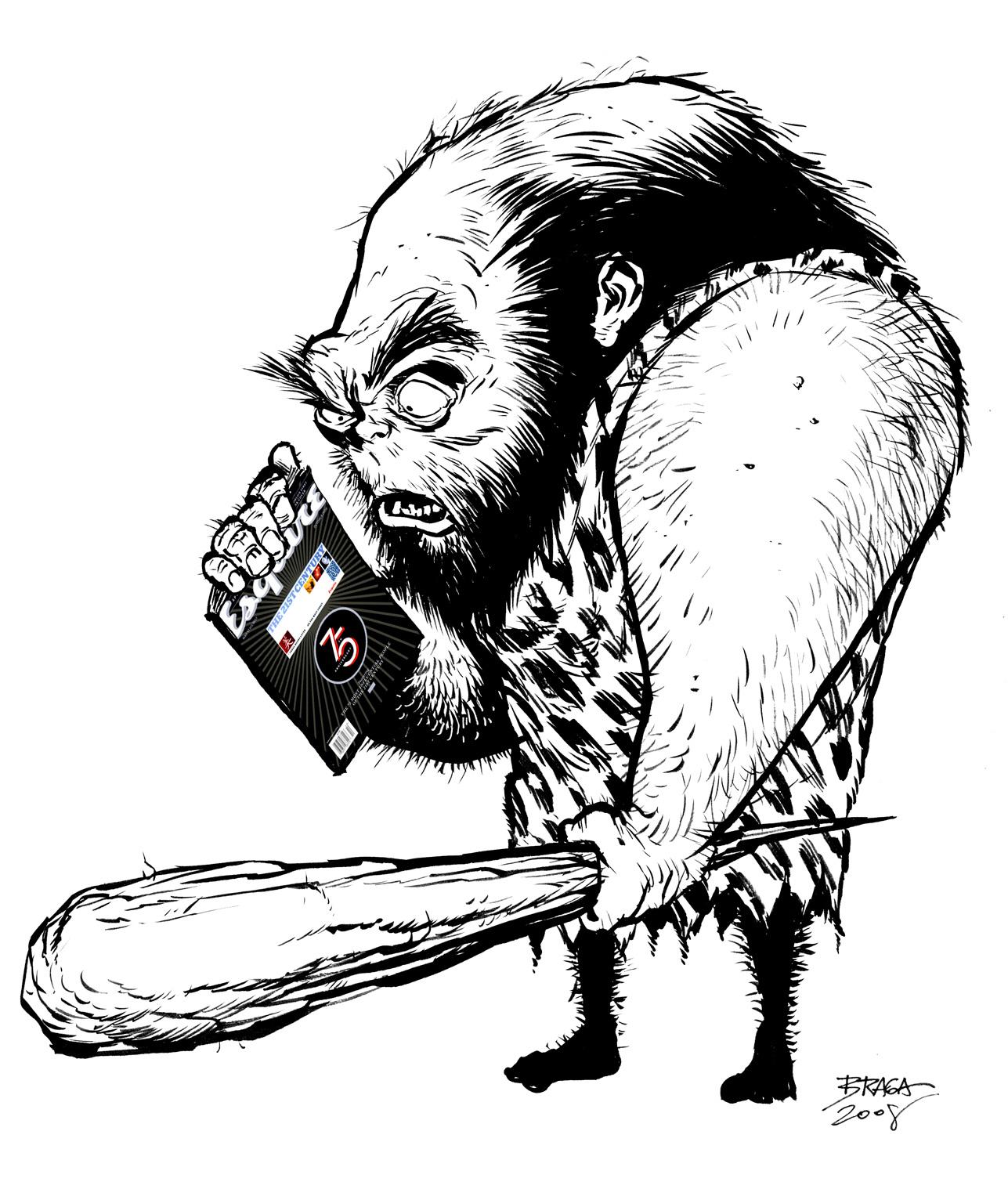 """""""Homem das Cavernas"""", Ilustração para o Coxa Creme"""