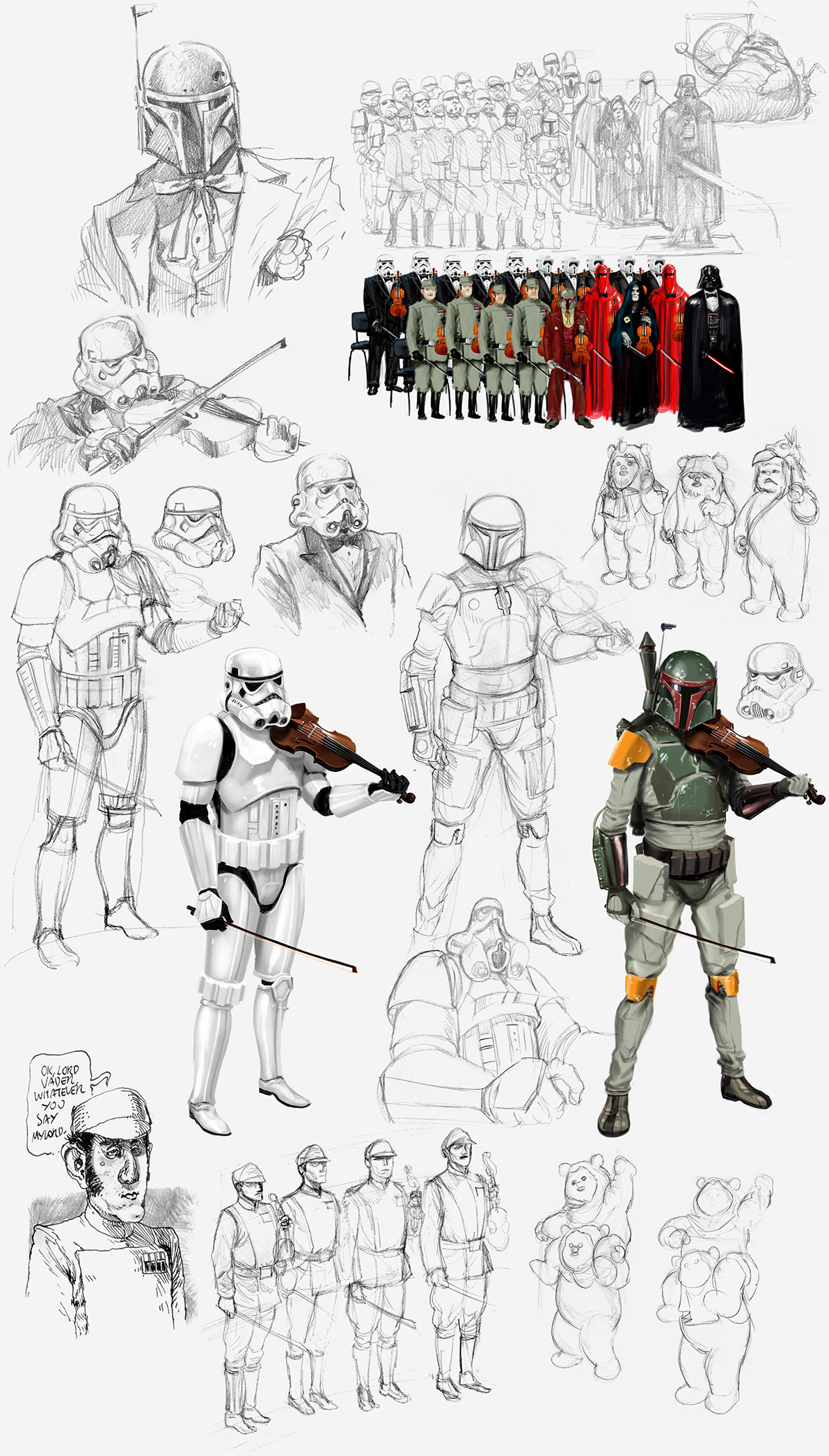 sketches-macacolandia-return-of-the-jedi-john-williams-30-anos